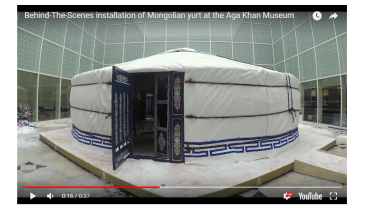 Behind-The-Scenes installation of Mongolian yurt at the Aga Khan Museum