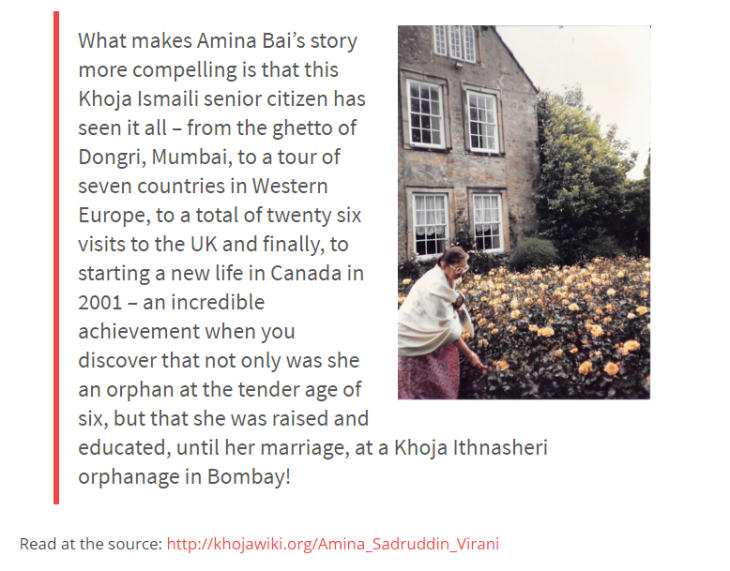 Amina Bai's Story: From the ghetto of Dongri, Mumbai, to a tour of seven countries in Western Europe | KhojaWiki