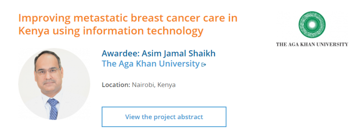 Aga Khan University receives SPARC Grant for innovative research to address the needs of metastatic breast cancer patients