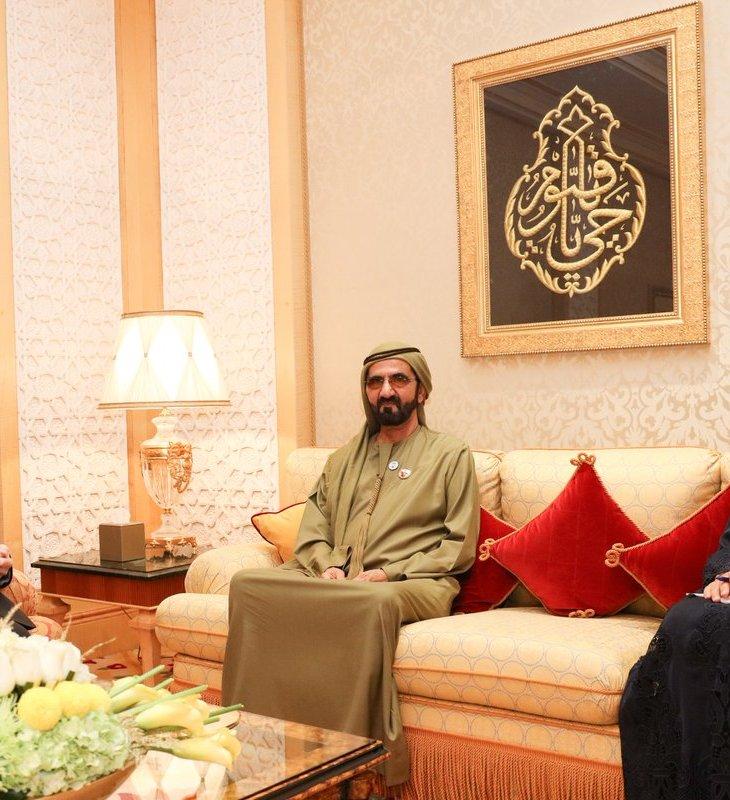 Ruler of Dubai, Mohammed bin Rashid receives Aga Khan
