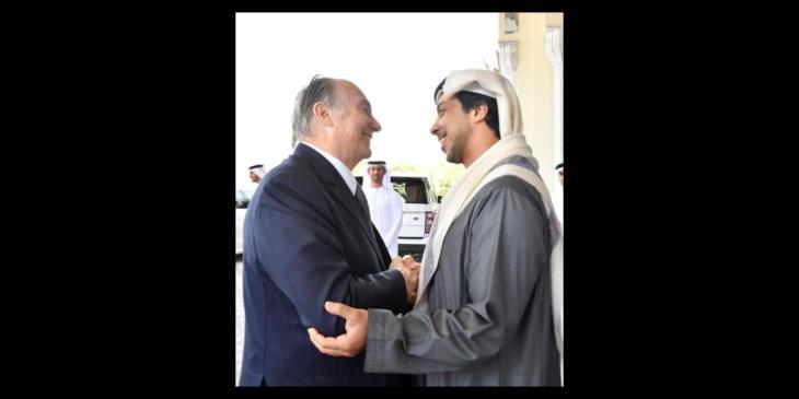 Mansour bin Zayed receives Aga Khan IV