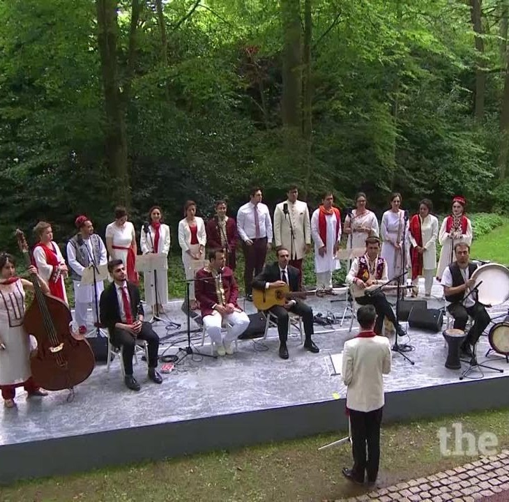 An ensemble of 22 Ismaili Musicians from around the world - Diamond Jubilee Homage Ceremony