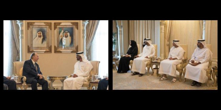 Mohamed Bin Zayed receives Aga Khan IV