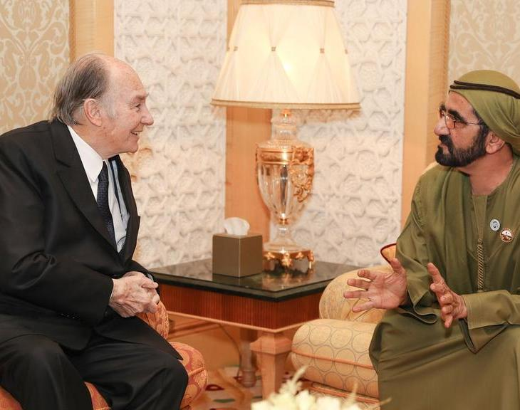 Spiritual Leader, Imam of the Shia Ismaili Muslims, meets Sheikh Mohammed in Dubai on Diamond Jubilee tour - The National UAE