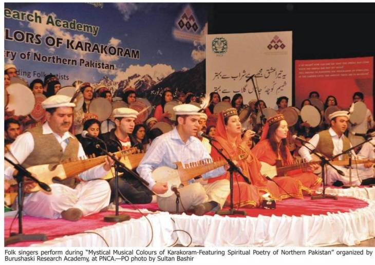 Musicians from Gilgit, Hunza & Chitral enthrall audience