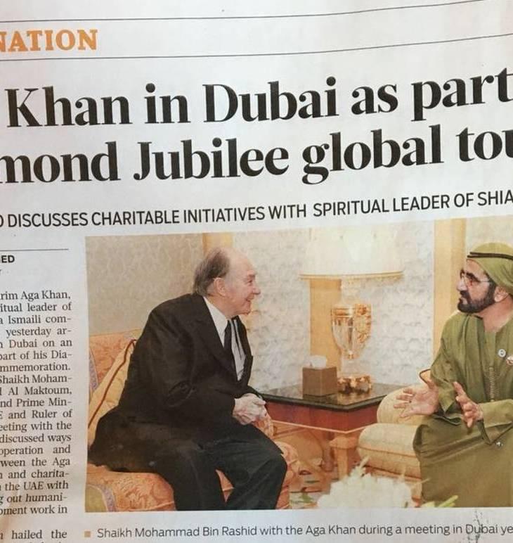 Aga Khan in Dubai as part of Diamond Jubilee global tour | Gulf News