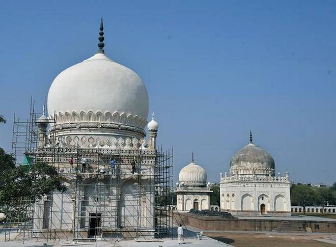 Conservation Work by Aga Khan Trust for Culture: Monuments at Qutb Shahi tombs set to open in March