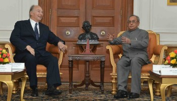 His Highness Prince Karim Aga Khan's meeting with Vice