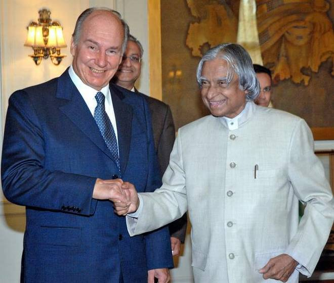 Close relations: Aga Khan IV with President A.P.J. Abdul Kalam in New Delhi in 2006.
