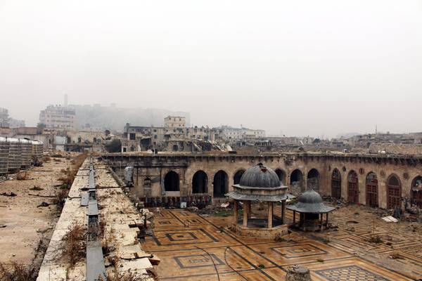 Aleppo souq and Umayyad mosque reconstruction begins
