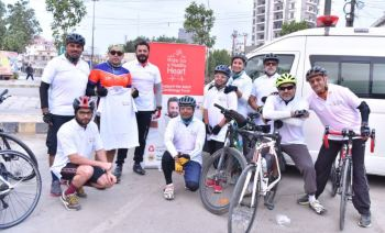 Cyclists, doctors and philanthropists launch fundraising drive for heart patients at the Aga Khan University Hospital