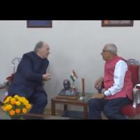 His Highness Prince Karim Aga Khan meets Honorable Governor of Gujarat (Video)
