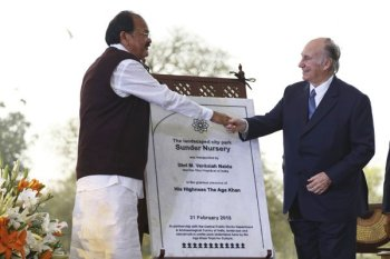 India VP and the Aga Khan inaugurate Sunder Nursery in New Delhi | Daily Nation