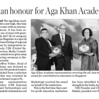 Asian Honour for Aga Khan Academy Hyderabad