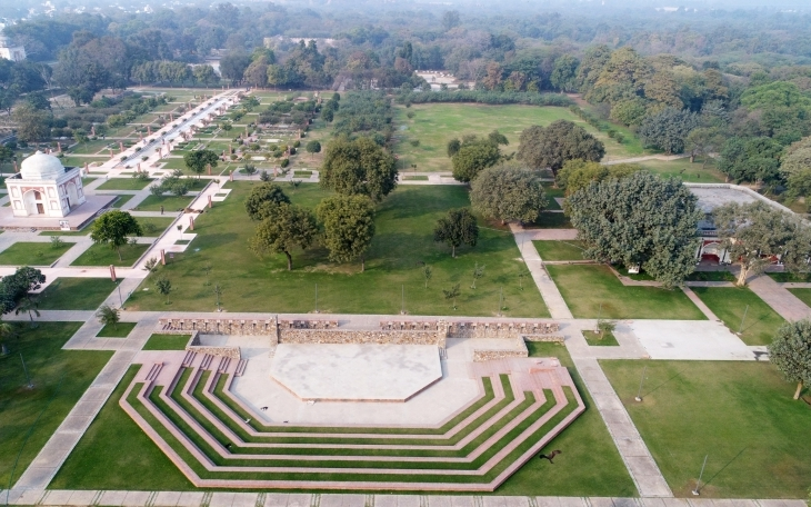 Established in the early 20th century to propagate plants for the city of New Delhi, the Central Public Works Department owned Sunder Nursery stands on 67 acres of land. It abuts Humayun's Tomb World Heritage Site and the 12 acre Batashewala complex – both in the care of the Archaeological Survey of India. Since 2007, the Aga Khan Trust for Culture has partnered with CPWD and ASI to create a unique city park spread across 90 acres. AKTC
