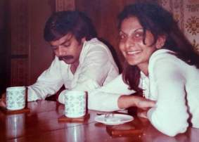 Dr Harjee in her younger days with first husband Dean in Pakistan where they met