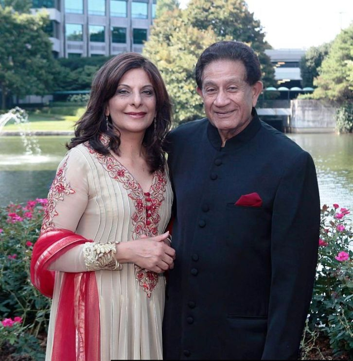 Dr Harjee with husband Zul