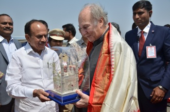 Mahmood Ali requested Aga Khan to take up the beautification of Golcondo Fort