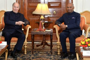 His Highness Prince Karim Aga Khan called on President of India, Shri Ram Nath Kovind