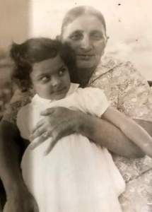 Harjee with her grandma Rehmat