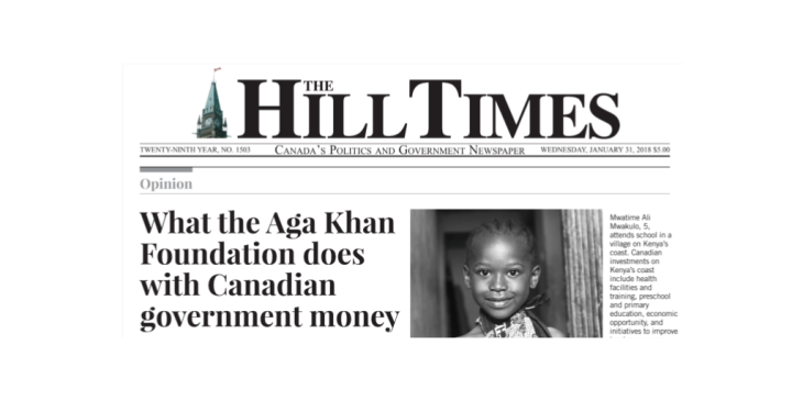 What the Aga Khan Foundation with Canadian government money