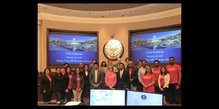 Mayor Joe R. Zimmerman of Sugar Land (Houston, Texas) honors Ismaili Jamatkhana and Volunteers
