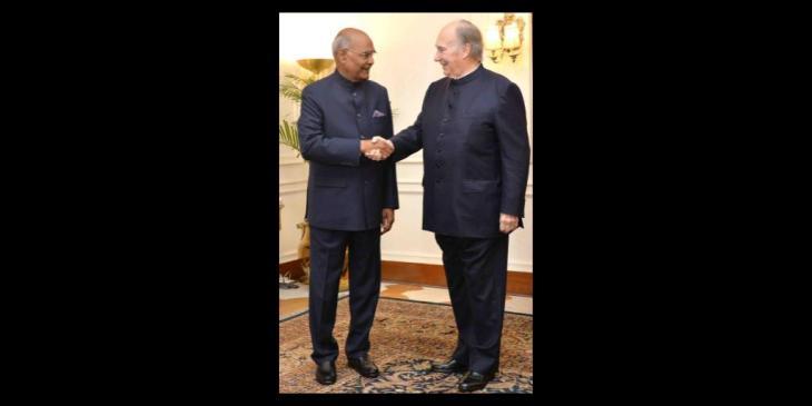His Highness Prince Karim Aga Khan called on the President of India, Shri Ram Nath Kovind (Video)