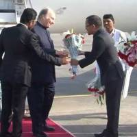 His Highness Prince Karim Aga Khan Welcomed at Ahmedabad Airport