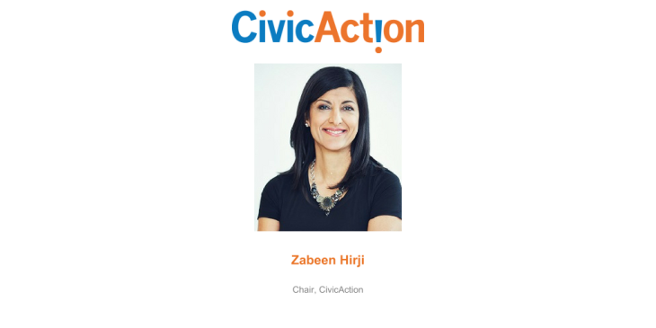 Zabeen Hirji Announced as New Chair of CivicAction