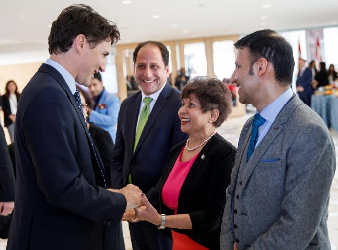 Photos: Prime Minister Trudeau celebrates Navroz at the Ismaili Centre in Toronto