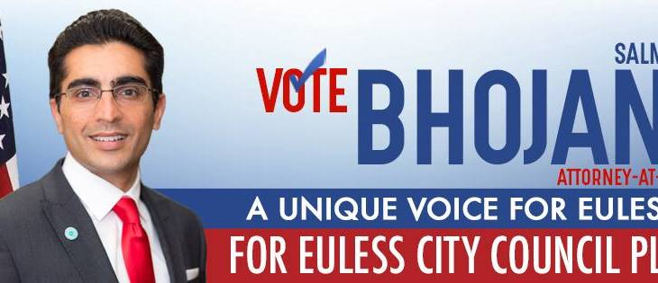 Salman Bhojani running for Euless City Council, North Texas