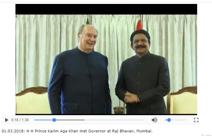 'World needs Aga Khan to convey the message of Islam': Governor of Maharashtra