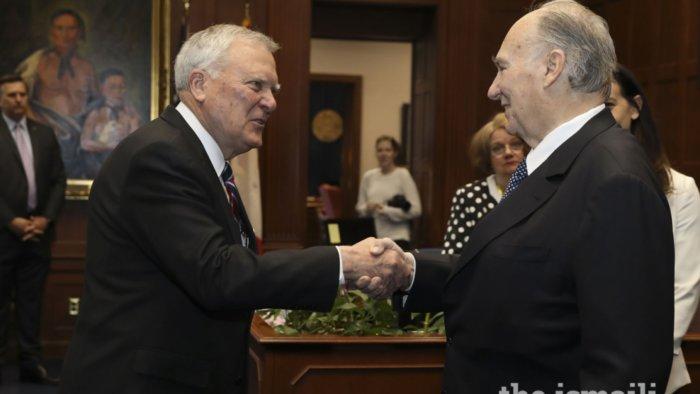 Georgia Governor Nathan Deal welcomes the Aga Khan