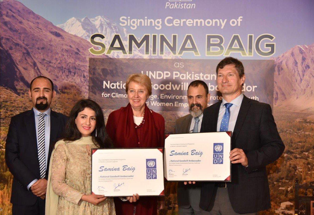 Mountaineer Samina Baig appointed as UNDP National Goodwill Ambassador for Pakistan | UNDP