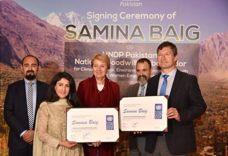 Mountaineer Samina Baig appointed as UNDP National Goodwill Ambassador for Pakistan | UNDP