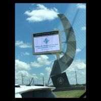 Signs on Texas Highways Houston Welcoming His Highness the Aga Khan