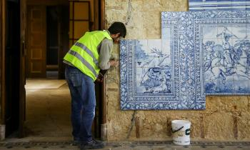 Restoration work at Henrique Mendonça Palace - Seat of Ismaili Imamat in Portugal