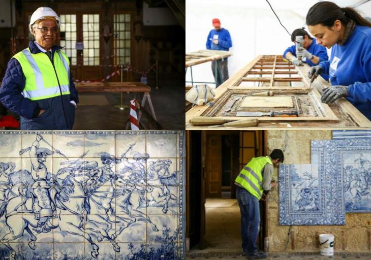 Inside the restoration work at Henrique Mendonça Palace - Seat of Ismaili Imamat in Portugal