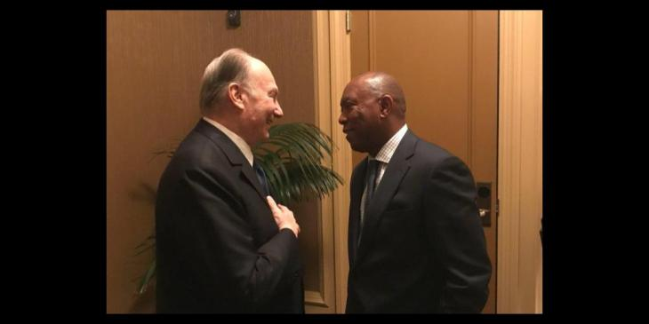 Mayor of Houston Texas USA Welcomes His Highness the Aga Khan