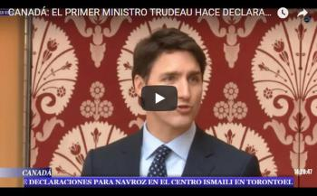 Speech: Canadian Prime Minister Trudeau speaks at the Navroz festival at the Ismaili Centre Toronto
