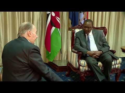 Aga Khan meets President Kenyatta (Video)