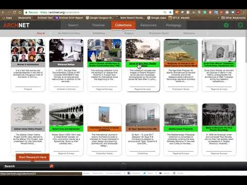 A video tour of Archnet's revised collections page