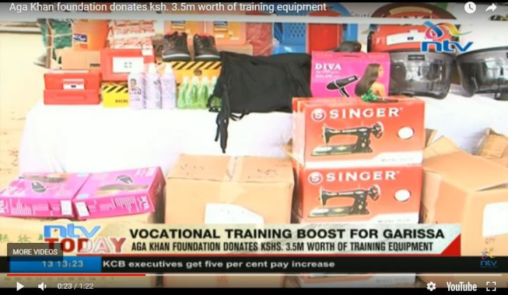 Aga Khan Foundation donates Ksh 3.5 million worth of vocational training equipment for the youth in Northern Kenya