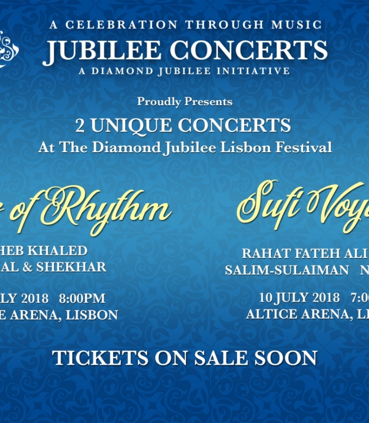 """King of qawwali"" Ustad Rahat Fateh Ali Khan & Salim-Sulaiman come together for His Highness the Aga Khan's Diamond Jubilee Concert in Portugal"