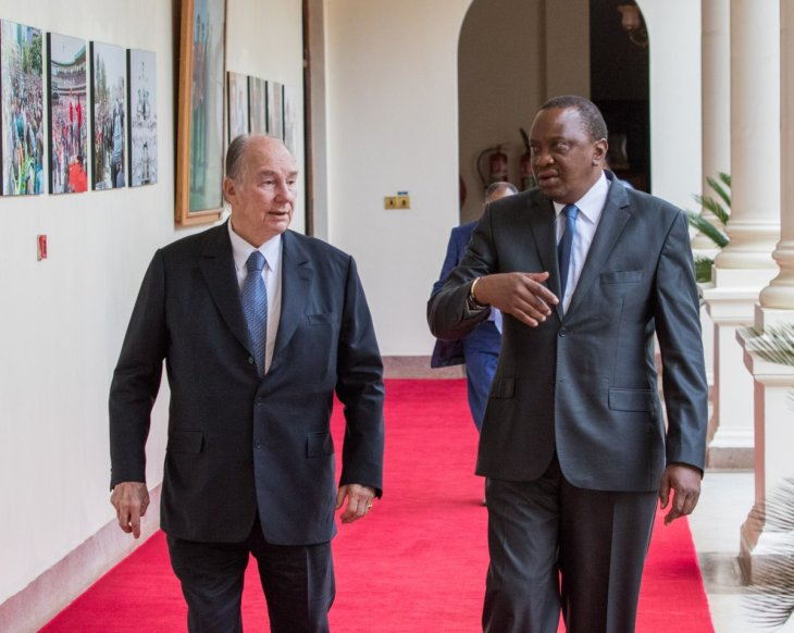 President Uhuru Kenyatta congratulates His Highness the Aga on his Diamond Jubilee, sends best wishes to the Ismaili community