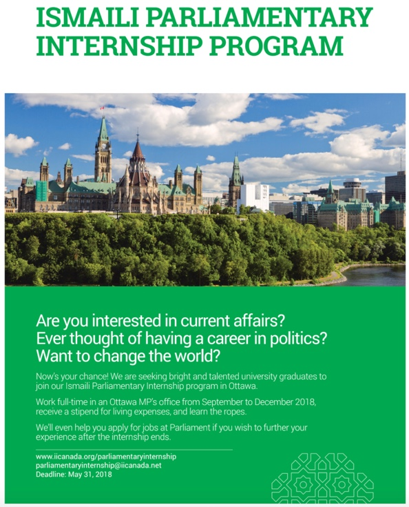 Parliamentary Internship opportunities for Ismaili graduates