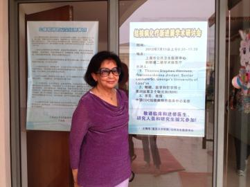 At a site visit to the Shanghai Lung Hospital in July 2012.