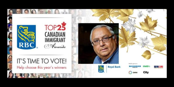 Mansoor Ladha nominated for the the RBC Top 25 Canadian Immigrant Awards