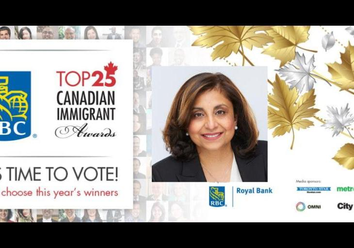 Naseem Somani nominated for the the RBC Top 25 Canadian Immigrant Awards