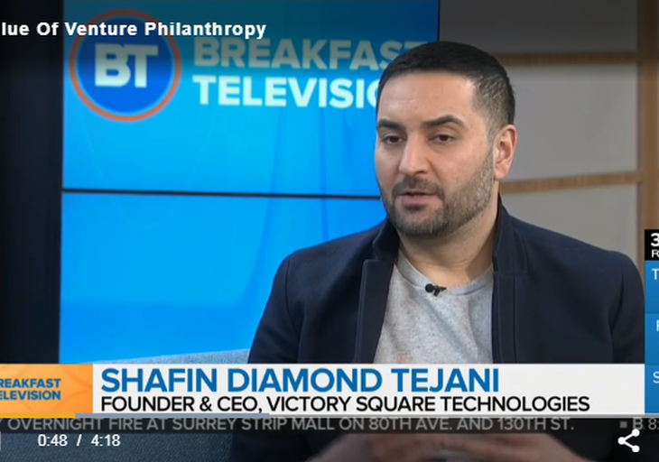 The Value Of Venture Philanthropy: Shafin Diamond Tejani on Breakfast Television with host Riaz Meghji